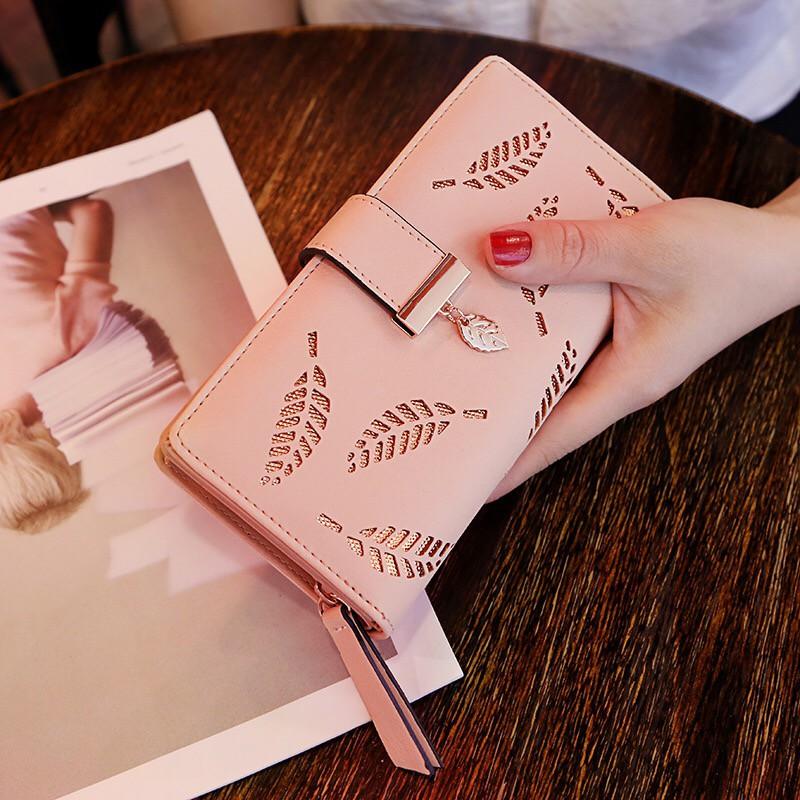 時尚新款錢包女學生長款包韓版鏤空大容量零錢包手拿包卡包女