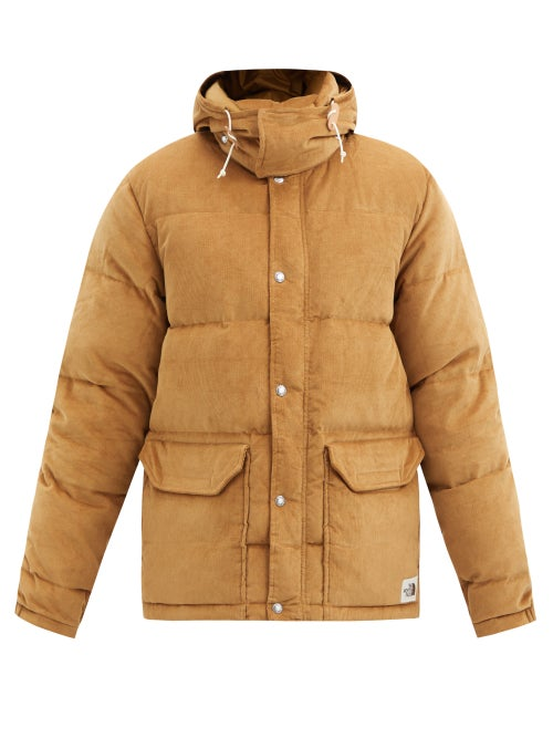 The North Face - Sierra Hooded Quilted Down Cotton-corduroy Coat - Mens - Brown