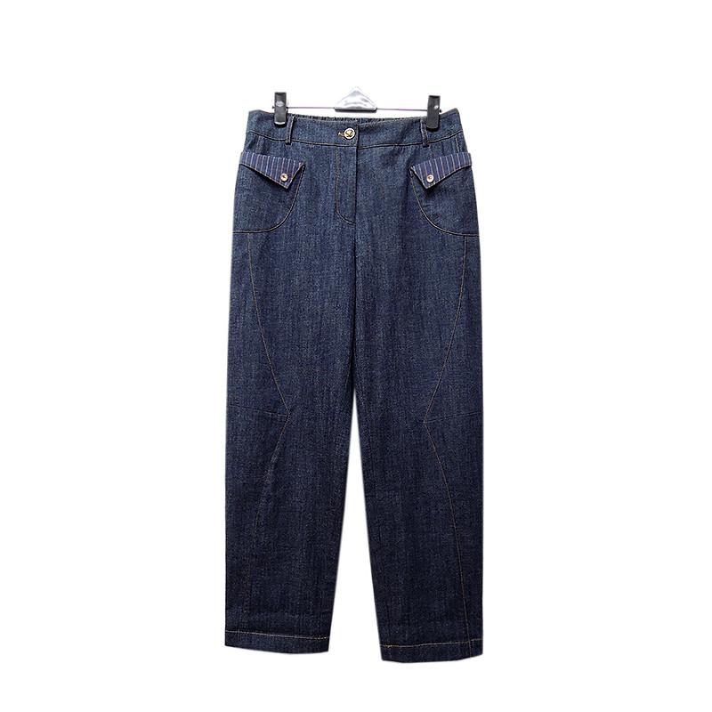 非常衣著 amor線條設計寬版直筒褲