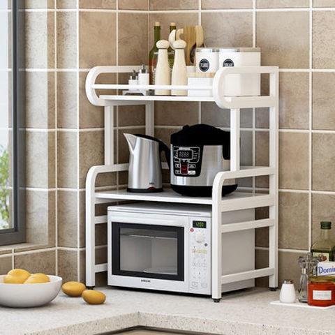 ✵¤廚房置物架微波爐架子廚房用品落地式多層調味料收納架儲物烤箱架
