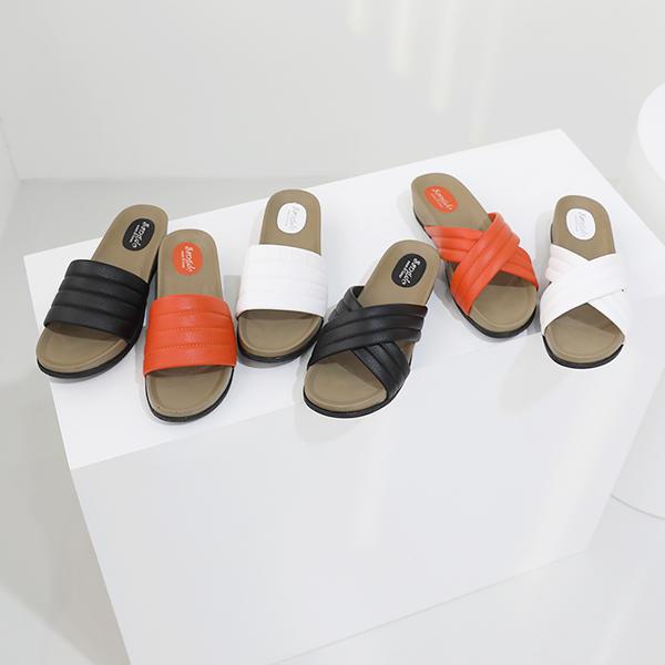 [J-SHOE] 2種款式 超輕 鬆軟舒適 拖鞋 一線 黑色