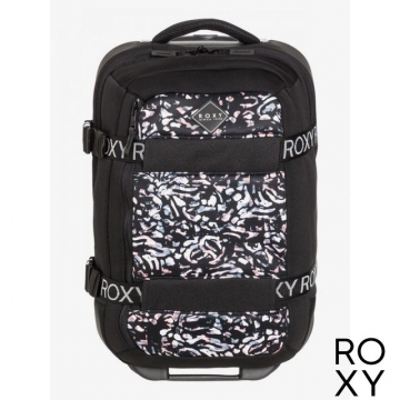 【ROXY】WHEELIE NEOPRENE 登機箱 黑色