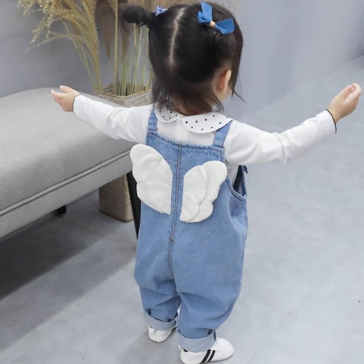 樂天精選▶女童吊帶褲春秋2020新款兒童牛仔褲子洋氣1歲小童春款3女寶寶春裝