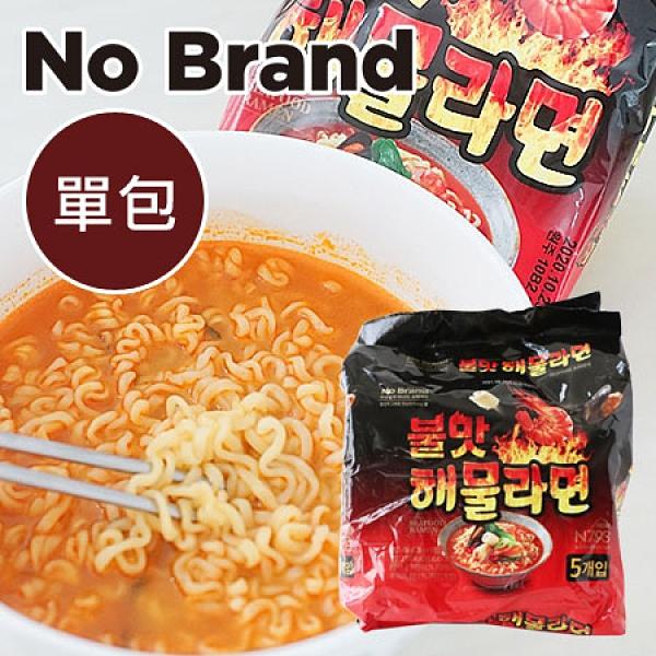 韓國 No Brand 火辣海鮮炒碼拉麵 (單包入) 120g 海鮮炒碼麵 炒碼麵 拉麵 泡麵 韓國泡麵