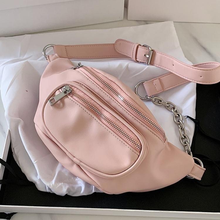 網紅小包包女2020流行新款潮韓版時尚百搭少女心斜背胸包運動腰包