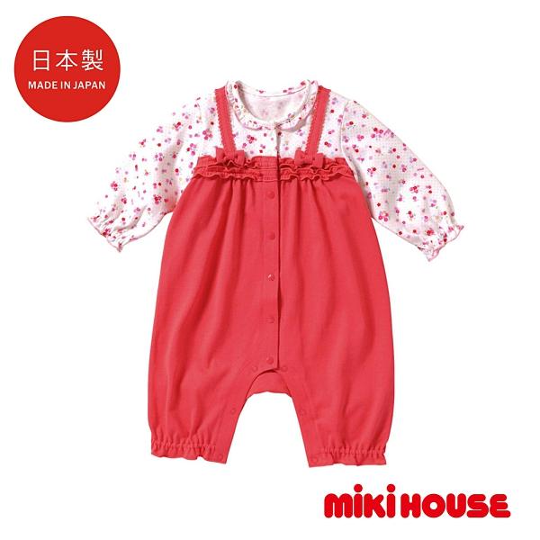 MIKI HOUSE BABY 日本製 小花皺褶連身服