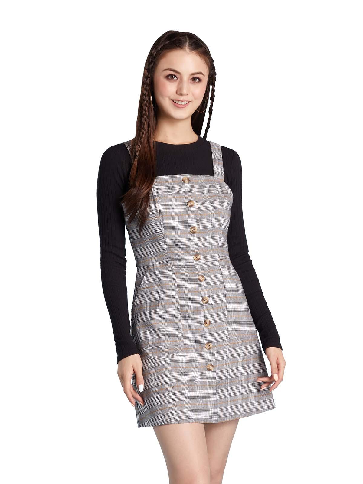 方格紋工人裙