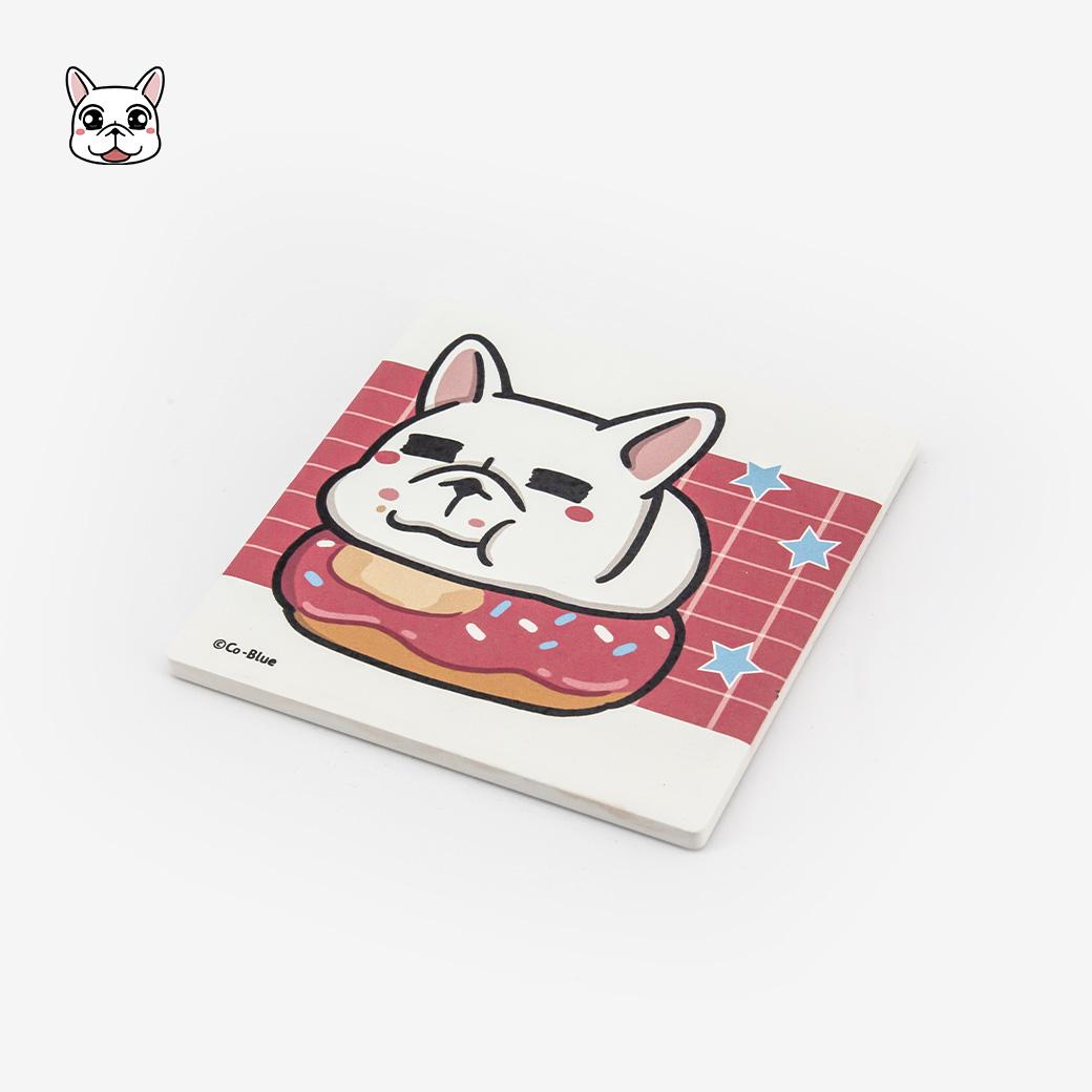 豆卡頻道_陶瓷方型杯墊-甜甜粉