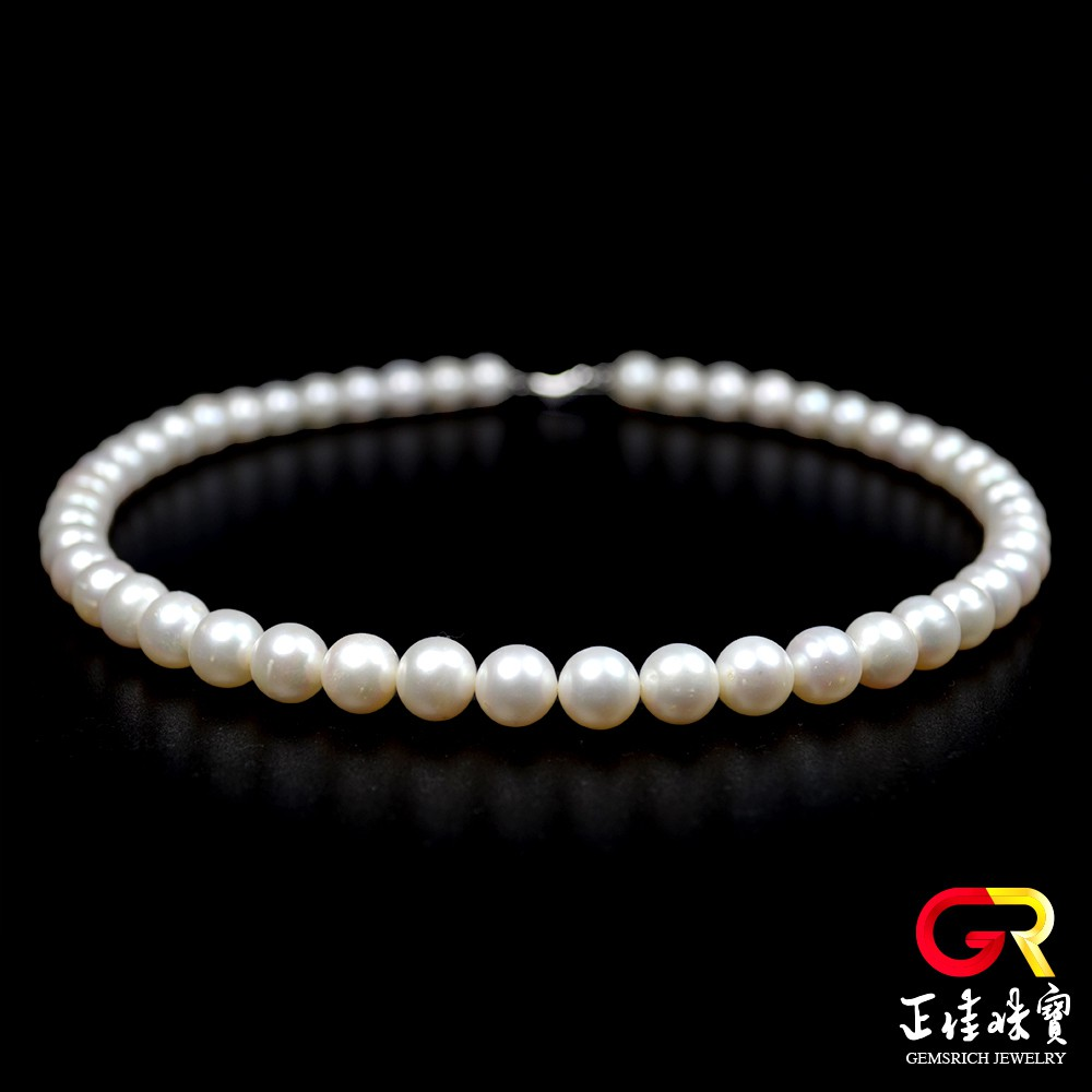 天然淡水珍珠 高光潤澤 10mm 珍珠項鍊 頂級珍珠項鍊 925銀扣電鍍白K 正佳珠寶