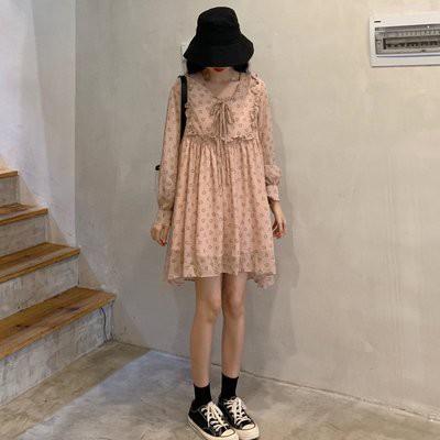 洋裝 中長裙子 中大尺碼 XL-5XL大碼胖mm腰粗遮肚子連身裙 寬鬆 雪紡200斤R032-3606.胖胖美依