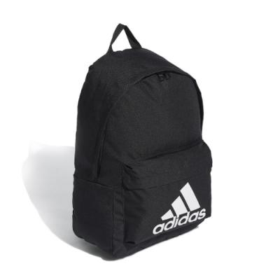 adidas 後背包 Classic Logo BKPK 男女款 愛迪達 雙肩背 基本款 上學包 黑 白 FS8332
