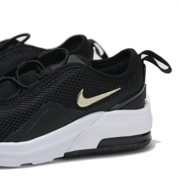 NIKE 慢跑鞋 MAX MOTION 2 黑金 氣墊 中童 (布魯克林) AQ2743-019