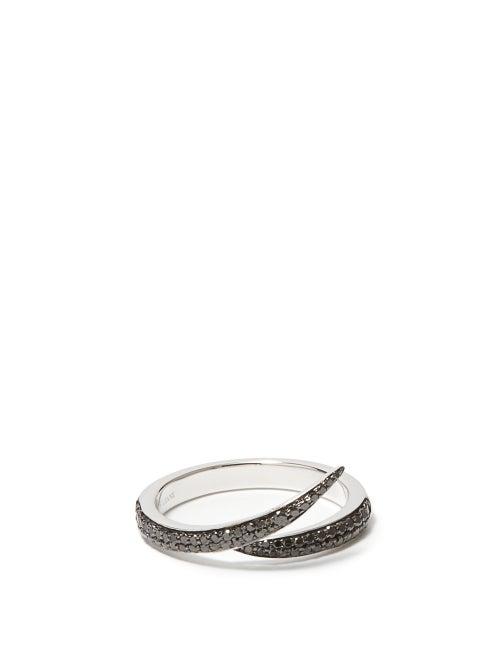 Shaun Leane - Interlocking Diamond & 18kt White-gold Ring - Mens - White Gold