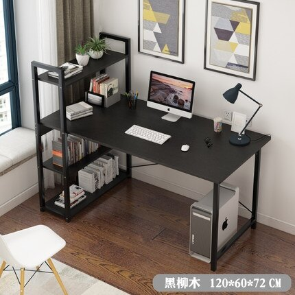 書桌 電腦桌簡易桌家用簡約現代經濟型書架組合臥室寫字臺小桌子【免運】