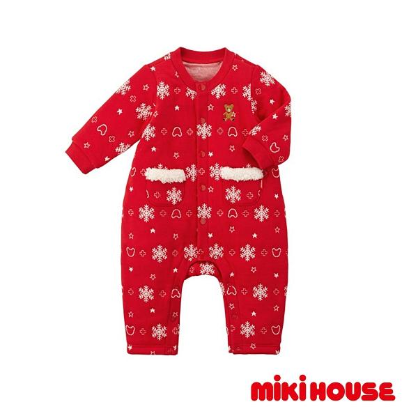 MIKI HOUSE 可愛雪花連身服(紅)