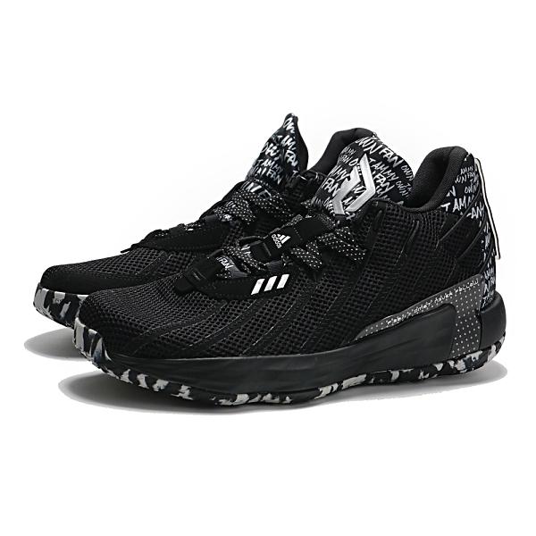 ADIDAS 籃球鞋 DAME 7 GCA 黑白 塗鴉 迷彩 利拉德 7代 男 (布魯克林) FY2794