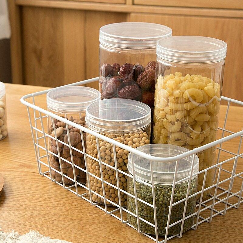 密封五谷雜糧儲物罐廚房帶蓋收納盒家用儲存瓶子塑料透明食品罐子