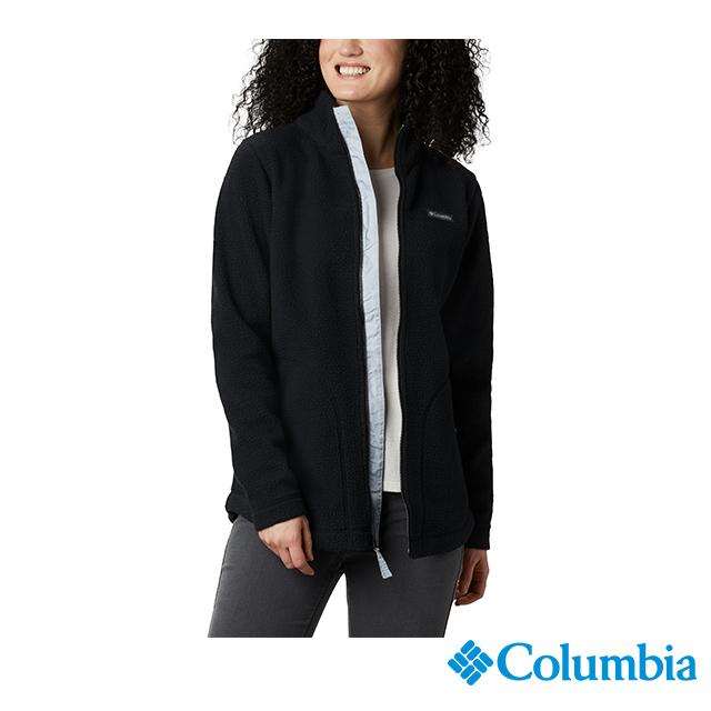 Columbia哥倫比亞 女款-保暖毛絨外套-黑色 UAL28860BK