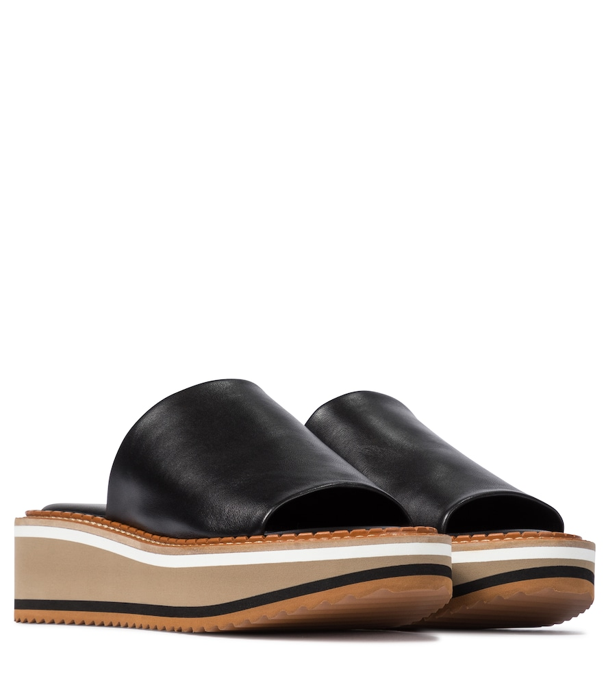 Fast leather platform slides