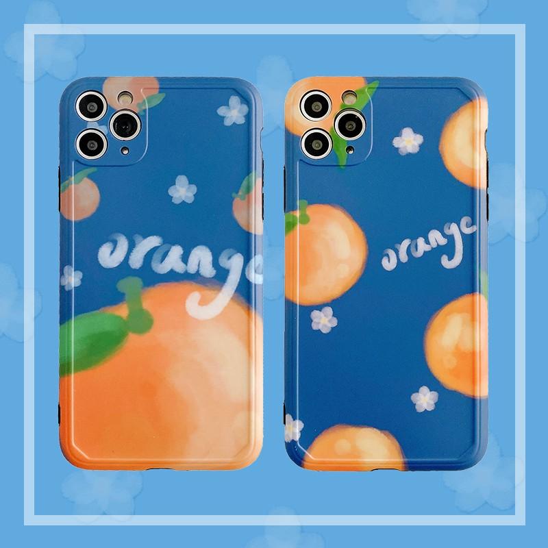 夏日復古橘子11Pro/Max蘋果X/XS/XR/SE手機殼iPhone7p女8plus硅膠全包攝像頭保護套個性創意in