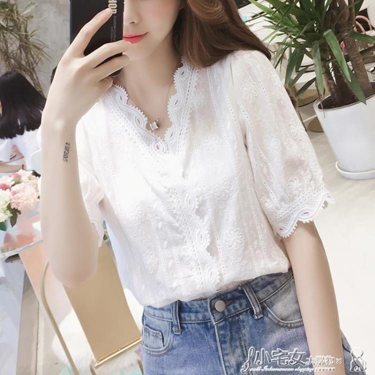 雪紡上衣 雪紡襯衫女春秋新款韓版V領上衣小眾設計感白色襯衣超仙洋氣小衫 雙12