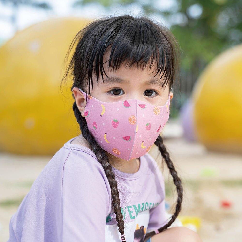 【Prodigy波特鉅】繽紛水果─兒童款抗UV3D立體透氣抗菌口罩1入組