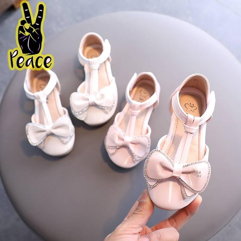 女童夏季涼鞋2020年新款時尚中大童百搭公主鞋韓版軟底包頭沙灘鞋