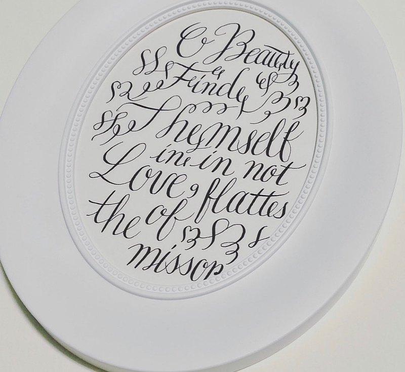 歐文設計書寫 尖筆頭 浪漫英文手寫體