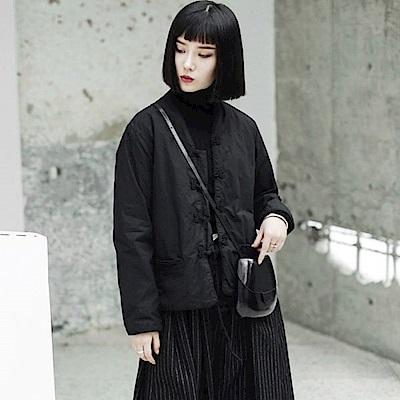 暗黑中國風中式唐裝盤扣棉夾克外套-設計所在