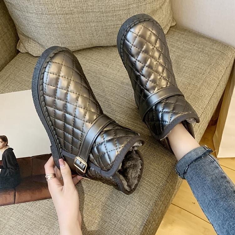 雪靴 雪地靴女防水防滑秋冬新款棉鞋加絨加厚保暖百搭學生短筒靴潮
