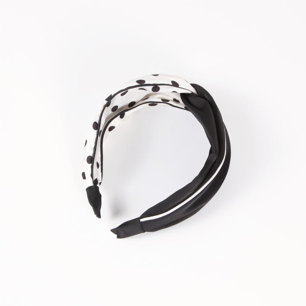 niceioi俏麗波點扭結造型髮箍