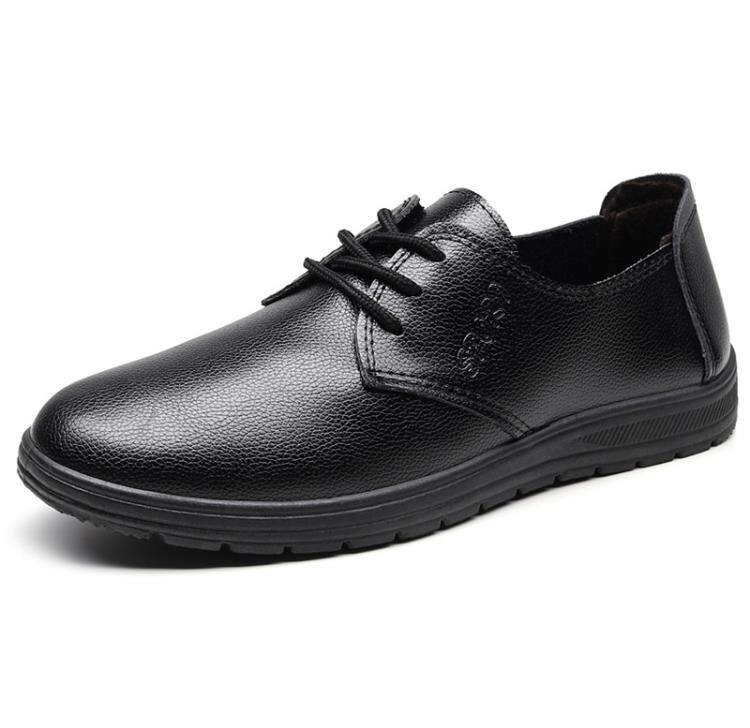 工作鞋 法弗米秋季廚師鞋男廚房防水防油防臭防滑鞋子耐磨黑色工作皮鞋男