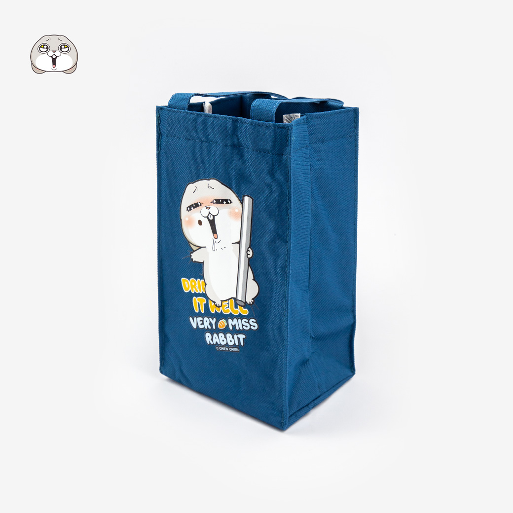 好想兔_保冷飲料提袋-藍