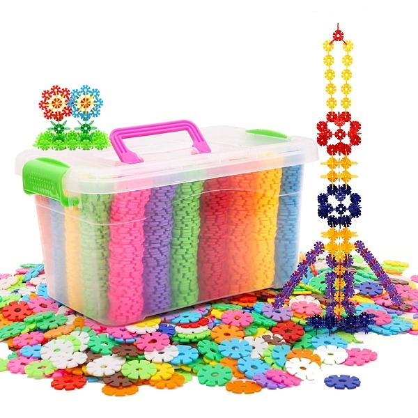 限定款寶寶積木 (600片免運)雪花片大號兒童積木玩具益智