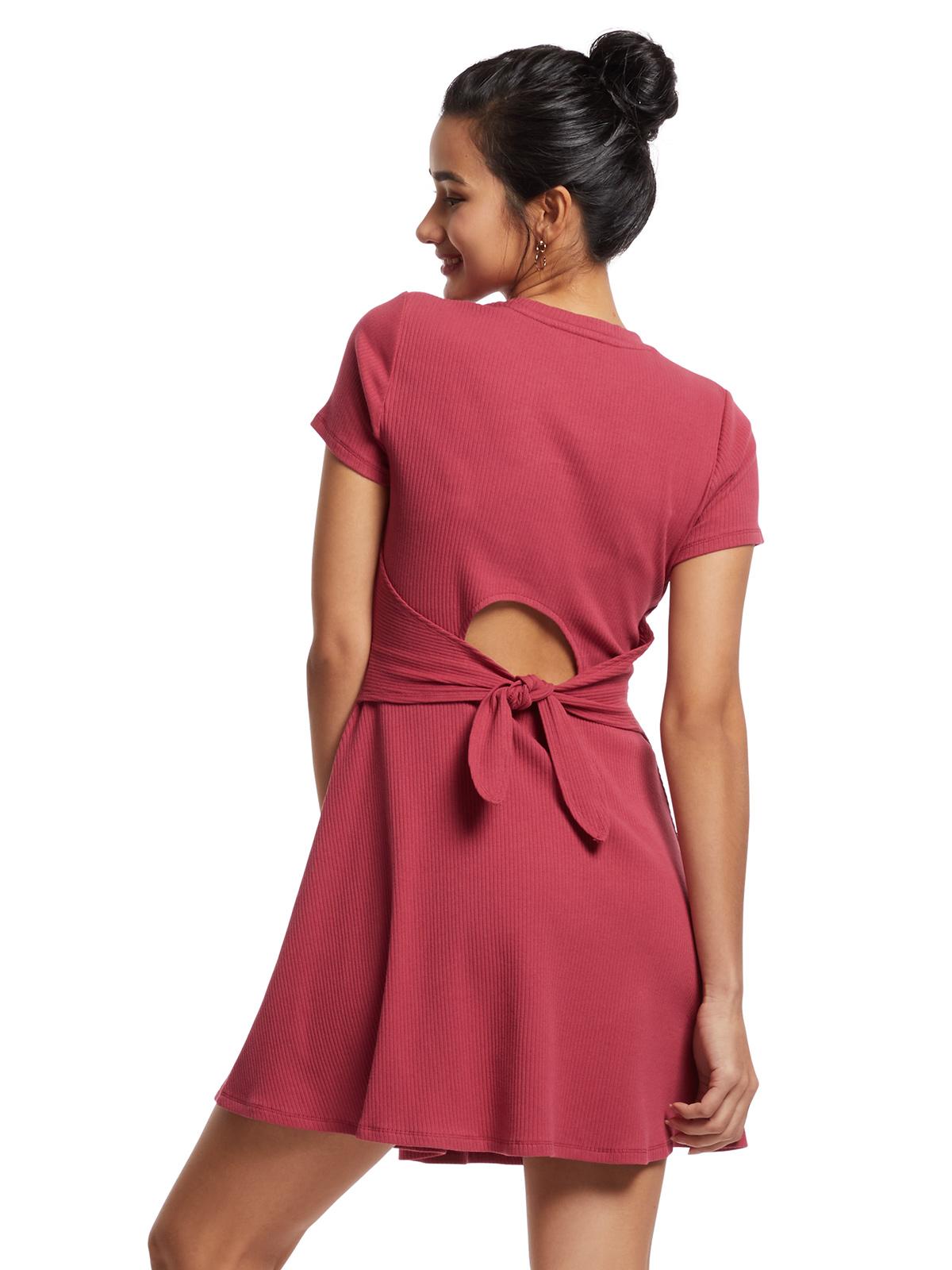 合身裙擺攞短袖中長連衣裙