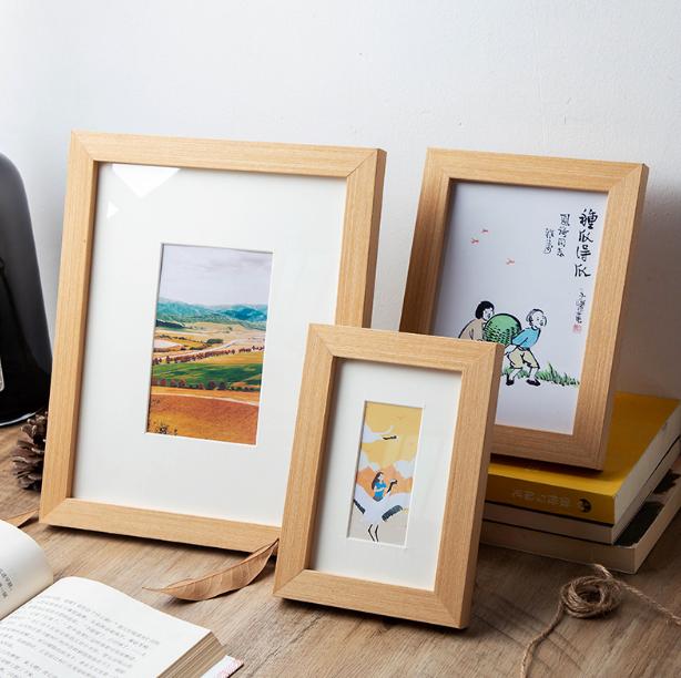 實木質相框擺臺5寸6寸7寸8寸10寸創意掛牆A4簡約畫框照片擺件像框