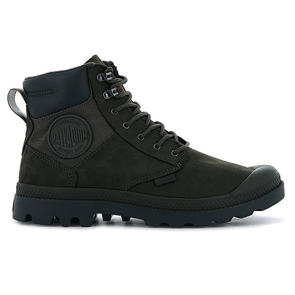 Palladium PAMPA SHIELD WP+ LUX皮革防水靴 中性 深墨綠 76843209