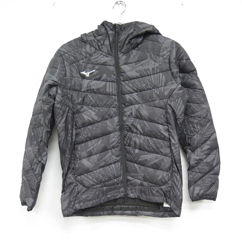 MIZUNO 夾克 連帽鋪棉外套 長袖外套 32ME053608 男款 黑灰色【iSport愛運動】