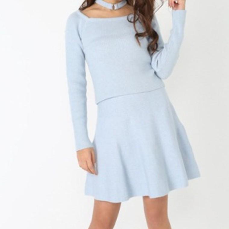 rienda【V9120-701】安哥拉羊毛傘狀短裙 白色