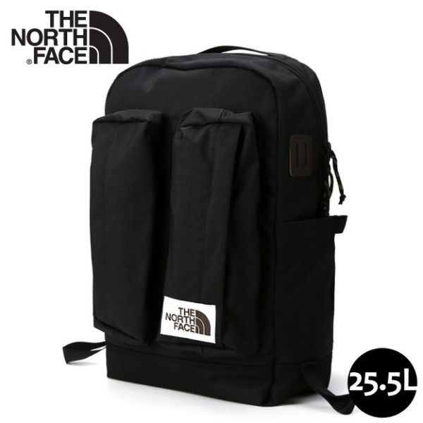 【The North Face 25.5L 經典懷舊後背包《黑》】3KY4/舒適防護休閒後背包/多功能休閒背包