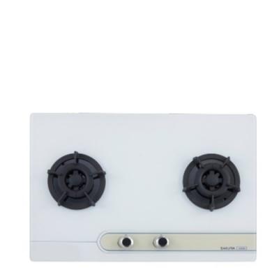 送膳魔師平底鍋★(全省安裝)櫻花雙口檯面爐白色瓦斯爐桶裝瓦斯G-2623GWL