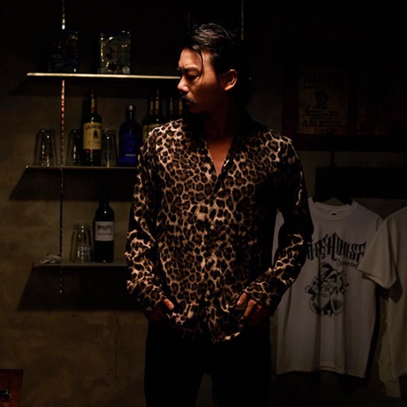 【GOZER Taiwan】OPEN LEOPARD SHIRT 豹紋長袖襯衫