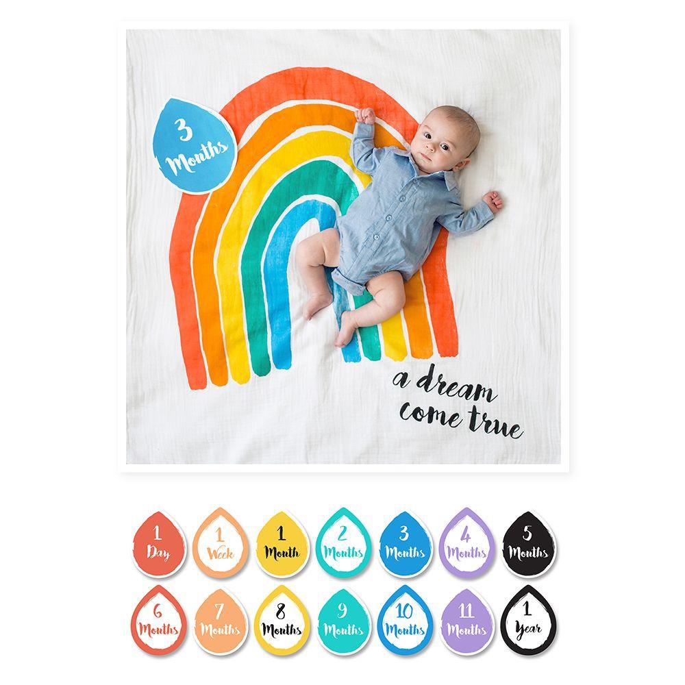 加拿大 lulujo 寶寶成長包巾卡片禮盒組(3款可選)