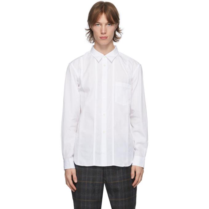 Comme des Garcons Homme Deux 白色拼接衬衫