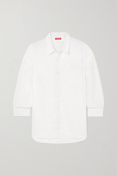 Denimist - 纯棉府绸衬衫 - 白色 - large