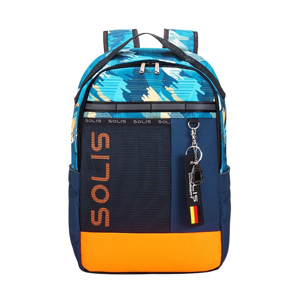 SOLIS塗鴉異想系列拼接休閒後背包(躍動藍)