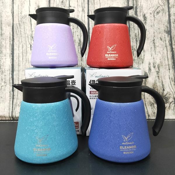 美樂美事 伊蓮娜 真空保溫壺(附杯墊) 800ml 熱水壺 開水壺 咖啡壺