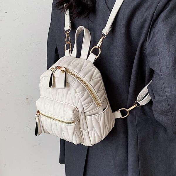 後背包 春季質感背包小包包2021新款潮網紅百搭ins女包時尚簡約雙肩包【快速出貨八折搶購】