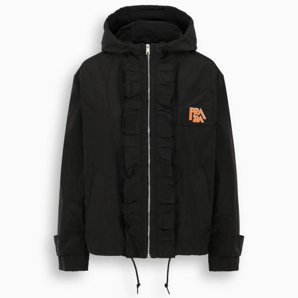 Prada Black ruffled jacket