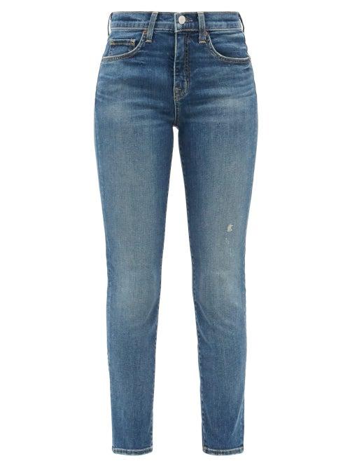 Nili Lotan - Mid-rise Slim-leg Jeans - Womens - Denim